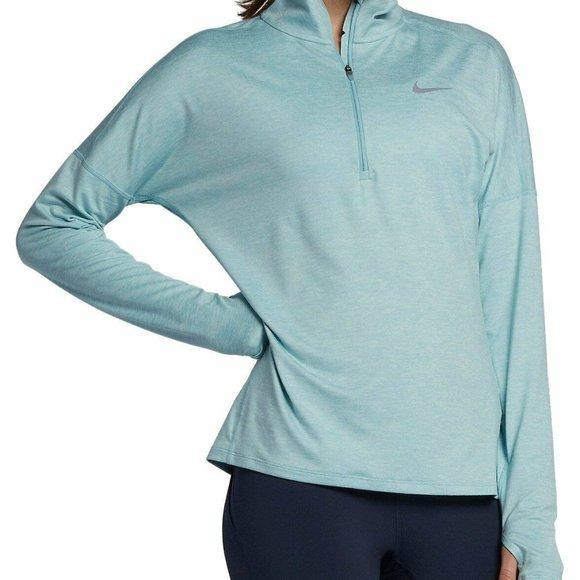 Nike fit women's XS baby blue half zip
